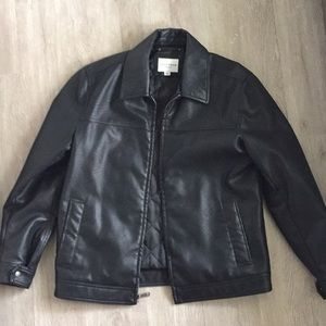 Mens Cole Haan Signature Faux Leather Jacket